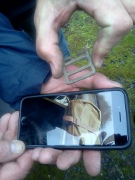 Smartphones are very handy for identifying small finds
